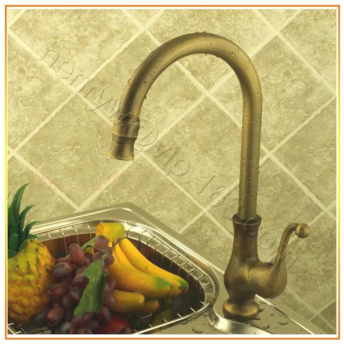 Retail Luxury Deck Mounted Bronze Color Brass Kitchen Faucet