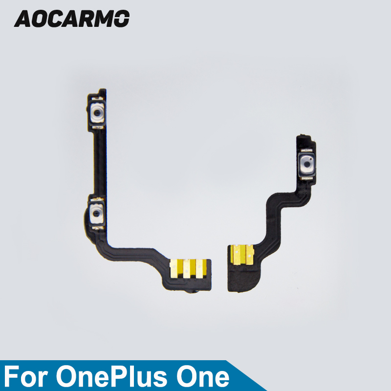 Aocarmo Power On/Off Volume Up/Down Button Flex Cable For OnePlus One 1+ A0001 Replacement Part