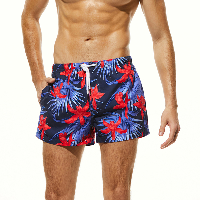 New Arrival Men 39 s Lily Printed Board Shorts Quick Dry Beach Shorts Surfing Swimwear Man Swim Trunks Plus Size Swim Wear Maldives in Surfing amp Beach Shorts from Sports amp Entertainment