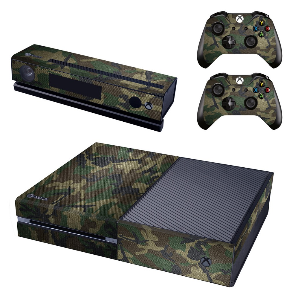 Game Stickers For Xbox One Vinyl Skin Decals Controllers Console Cover Gamepad Protector For XBOX ONE Camouflage Style