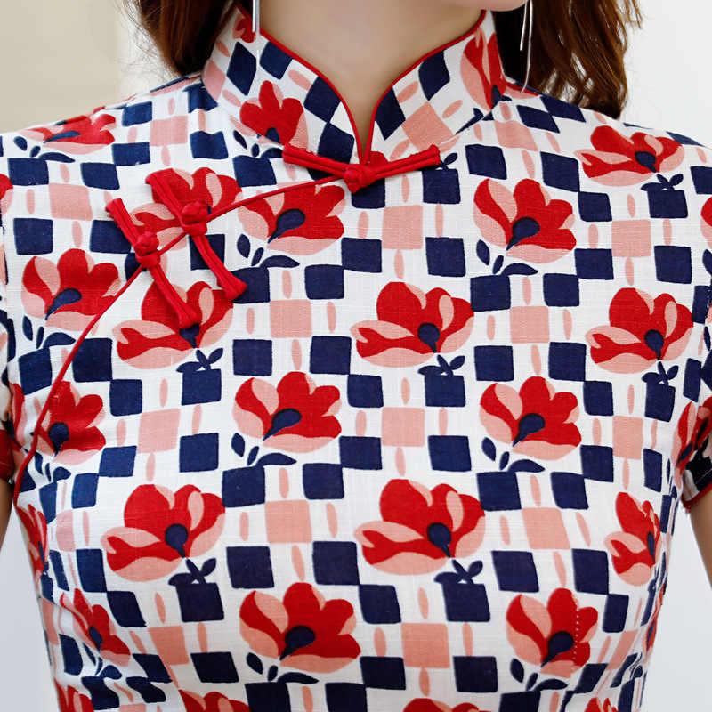 2019 wiosna lato koszula damska bluzki w stylu Vintage chiński styl Lady bluzka z krótkim rękawem Top Mujer Camisa rozmiar S M L XL XXL XXXL
