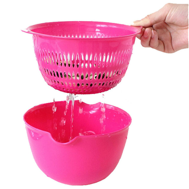 Us 17 98 Fruit Vegetable Storage Basket Fruit Bowl Leakage Food Container Plastic Colander Strainers Kitchen Cooking Tool Free Shipping In Storage