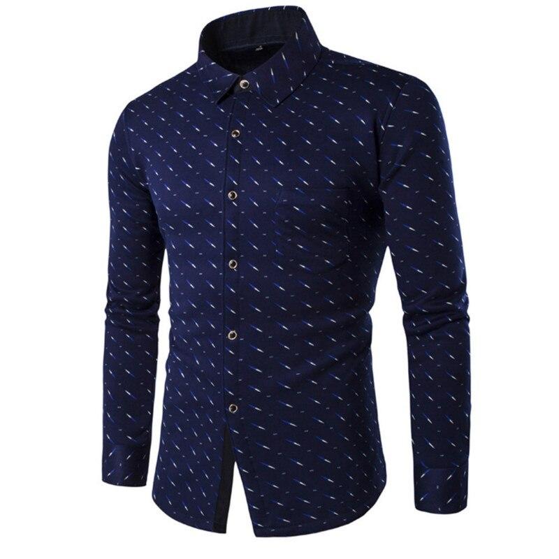 Brand 2016 new men 39 s long sleeved dress shirt european for European mens dress shirts
