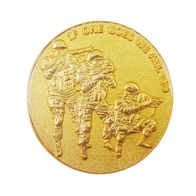 Cheap military challenge gold coin low price round zinc alloy