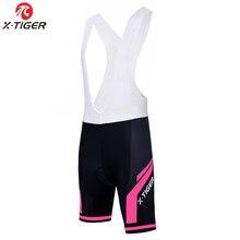 X-tiger-pantalones cortos de LICRA para ciclismo para mujer, pantalones cortos para bicicleta de montaña, 100%, con almohadilla de Gel 3D Coolmax, verano 2020