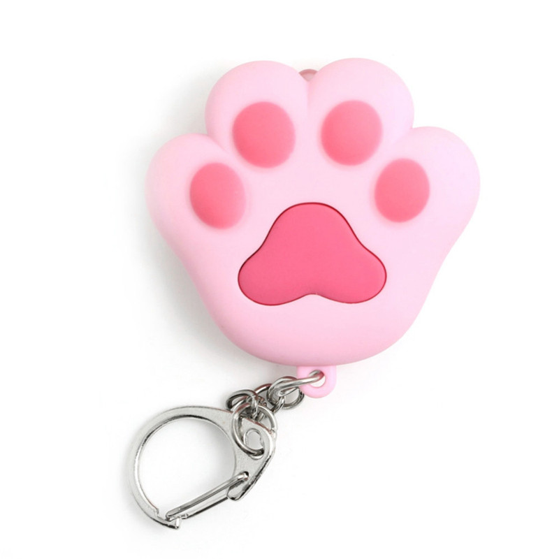 New Arrive Lovely Cat Claw Keychain Cool LED lights Key Ring Pendant Sound Keychains Cat Meow Gift hot sales