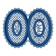 Lace Oval Flower Frame Metal Cutting Dies for Scrapbooking New 2019 Crafts Die Cut Card Making Album Embossing