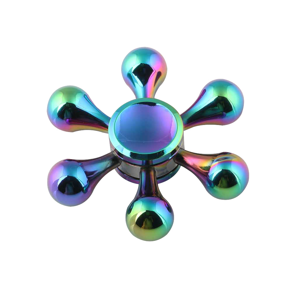 GARDEN Fargerik Fidget Spinner Metal Finger Spinner Rainbow Hand Spinner Glidelås Bag Spiner Anti Relief Stress Leker for voksne