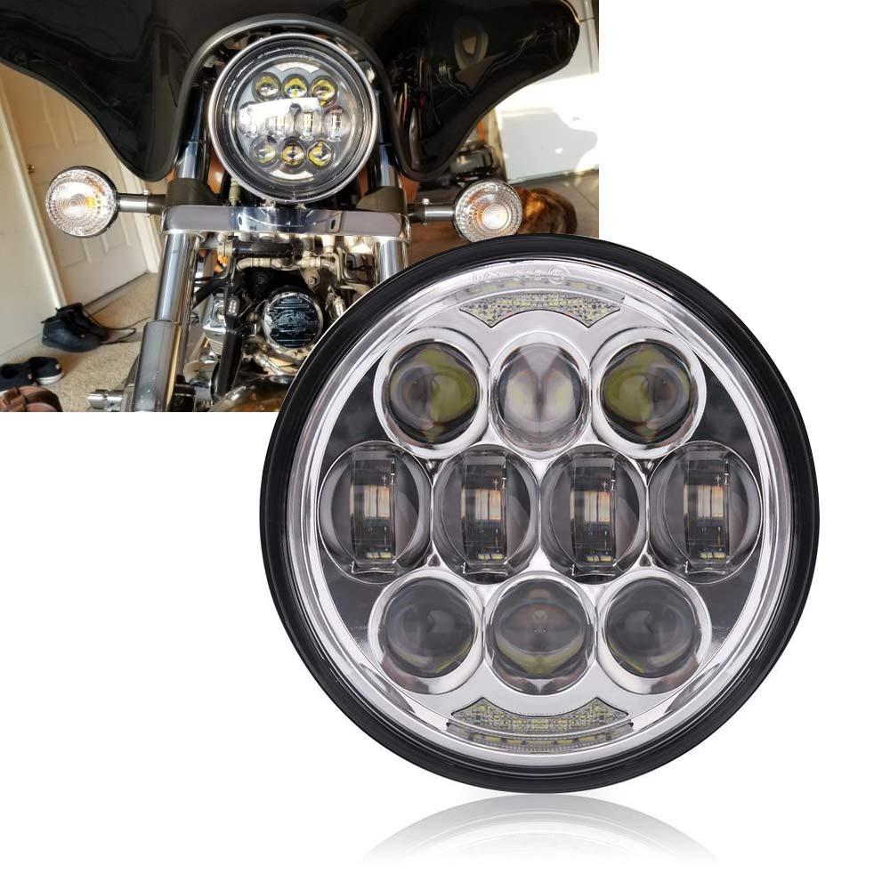 Moto 5-3/4 5.75 phare LED pour 883, sportster, triple, low rider, projecteur de phare de glisse large