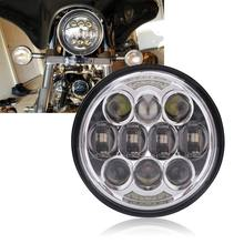 Motorcycle 5-3/4 5.75 LED Headlight for  883,sportster,triple,low rider,wide glide Headlamp Projector 5 75 round headlamp 5 3 4 inch led headlight drl for harley dyna low rider sportster softail breakout sportster superlow