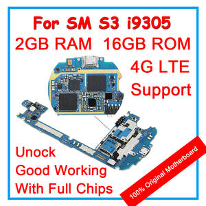 Logic Android-Os-System Samsung Galaxy 100%Unlocked for S3 Original with Chips 16GB Mainboard