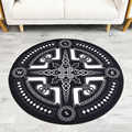 Mode moderne noir blanc motif géométrique tapis rond antidérapant respirant salon chambre tapis Home Decorator tapis de sol