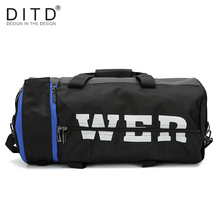 DITD New Style Large Capacity Sports bag Mens Multi Function GYM Bag Nylon Hand-held barrel 2019 popular Travel Leisure