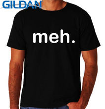 2017 New T Shirt Gildan O-Neck Men Meh It Crowd Computer Nerd Geek Gamer Design Short Sleeve T Shirts