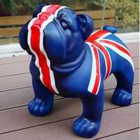 42CM European Ornaments British Bulldog Simulation Dog Decorations Shop Opening Housewarming Gifts L3018