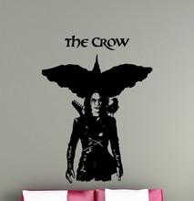 Free shipping Superhero The Crow Vinyl Wall Sticker Murals DIY Home Creative Art Design Decal Kids Room Decor Poster