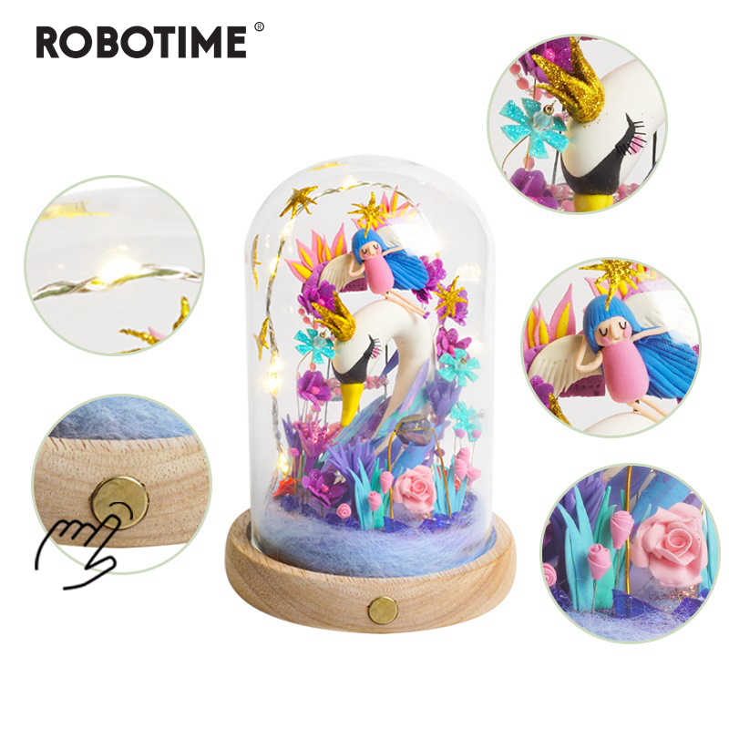 Robotime New Arrival Creative Sleeping Swan DIY Model Building Kits Assembly Toy Gift for Children Adult DC04