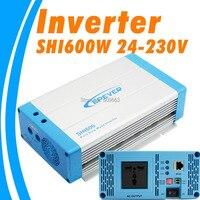 600 Вт EPEVER SHI600W 24 24 В чистая синусоида солнечный инвертор 24Vdc к 230Vac преобразователь вне сети Австралия, Европейский постоянного тока для SHI600W