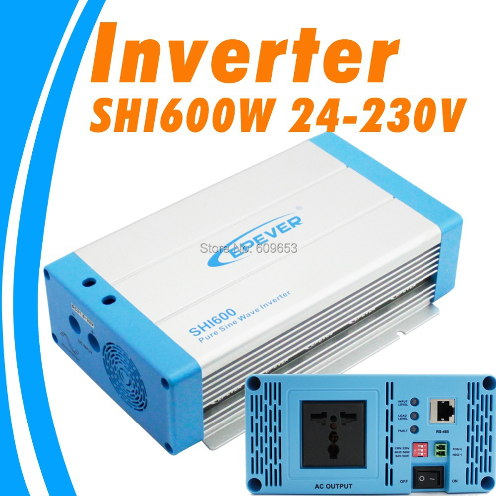 цена на 600W EPEVER SHI600W-24 24V Pure Sine Wave Solar Inverter 24Vdc to 230Vac off grid inverter Australia European DC to AC SHI600W