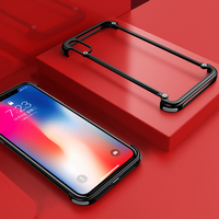 OATSBASF Airbag Metal Case For IPhone X Case Personality Shell For IPhone X Airbag Metal Bumper