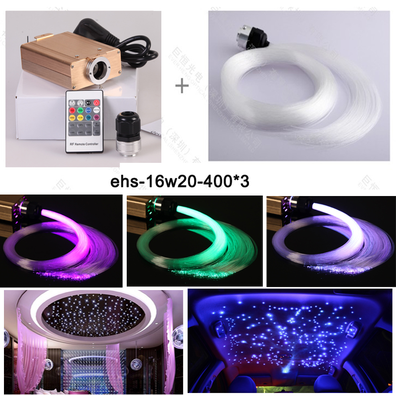 DC 12V car use star sky ceiling roof light decoration with MIX size optic fiber cable 0.75 1 1.5mm diy fiber optic gift for decoration picture car star top roof toy with flexible fibre cable mini rgb projector