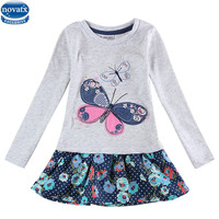 2 Colors Fashionable Girls Frock Children Clothes Butterfly Kids Dresses Girls Nova Baby Clothing Autumn Kids