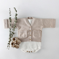 74e404ff1cd786 Baby Girls Knitted Sweater Autumn Winter Cotton Children S Boys Cardigan  Sweater Jacket Solid Color Kids