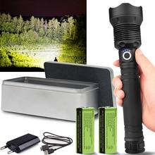 250000cd 1000m XHP90.2 most powerful led flashlight usb Zoom Tactical torch xhp5