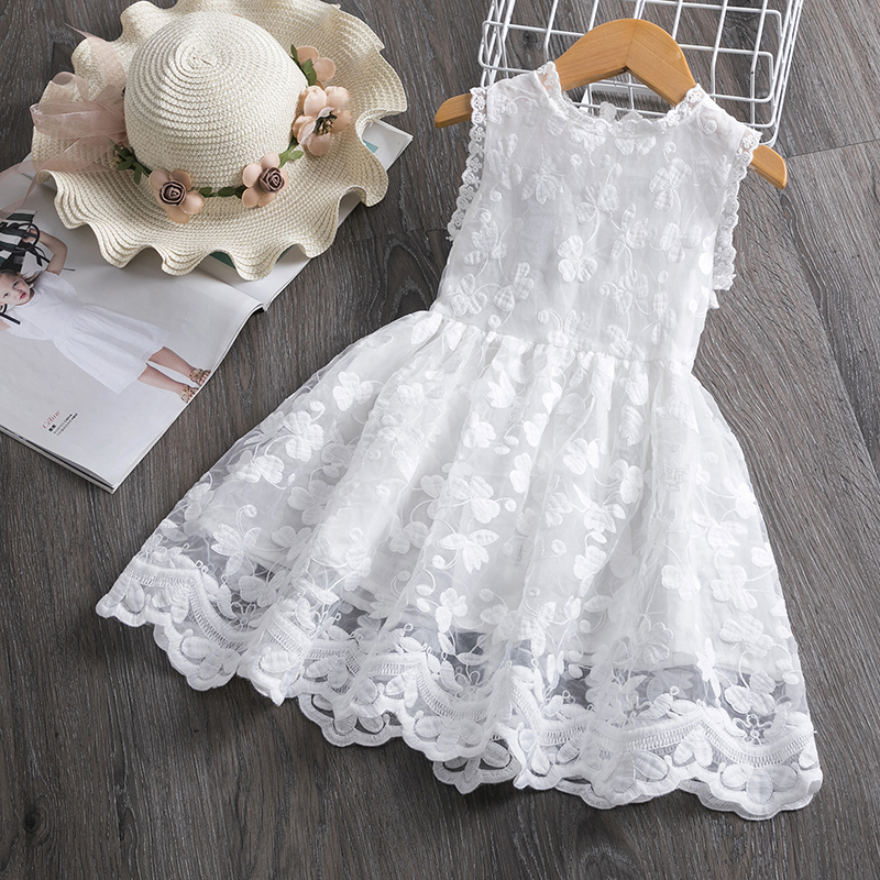 HTB1l91KaQH0gK0jSZPiq6yvapXaK Girl Dress Kids Dresses For Girls Mesh Casual Lace Embroidery Princess Baby Girl Clothes Summer Sleeveless Dress Kids Clothes