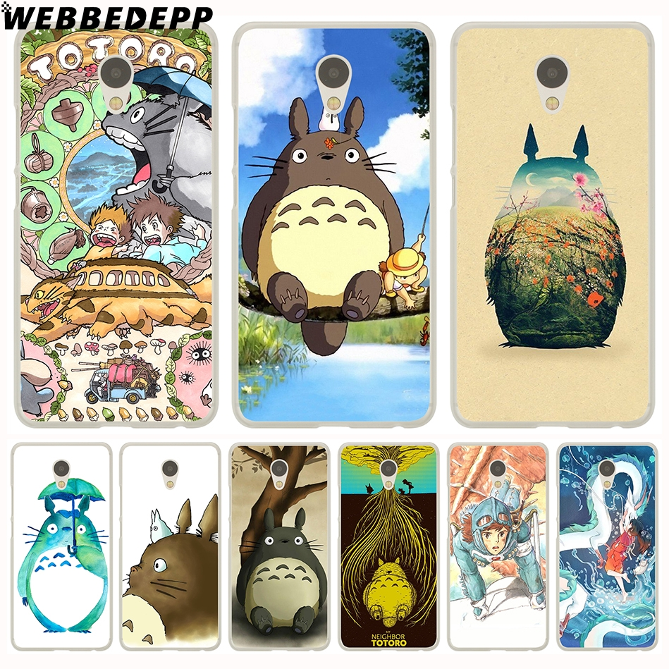 Webbedepp Studio Ghibli Тоторо жесткий чехол для Meizu M6 M5 M3 Примечание M5S M5C M3S M2 Mini Pro 7 6 U20 U10