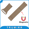 Genuine Leather Watch Band Quick Release Strap 18mm 20mm 22mm 23mm 24mm Universal Wrist Belt Bracelet with Magnetic Buckle Black