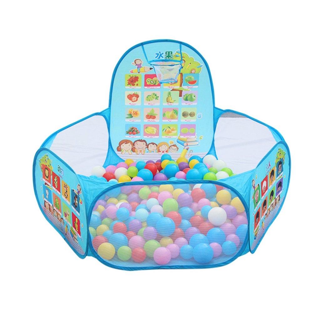 Foldable Baby Fruits Balls Pool Pit Indoor Outdoor Children Baby Toy Game Play House Kids Gift Play Tent With Ball Frame