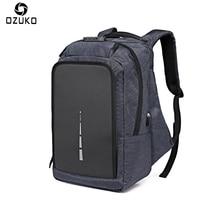 Ozuko Оксфорд мужской рюкзак анти-вор зарядка через USB 15.6 дюймовый ноутбук рюкзак Mochila Многофункциональный Повседневная компьютерная школа Сумка
