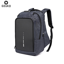 OZUKO Oxford Men's Backpack Anti-thief USB Charging 15.6inch Laptop Backpack Mochila Multi-functional Casual Computer School Bag