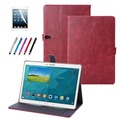 Luxury pu Leather stand Smart Cover Flip Book Case for Samsung Galaxy Tab S 10.5 (SM-T800 SM-T805) T805C+Protective film +stylus