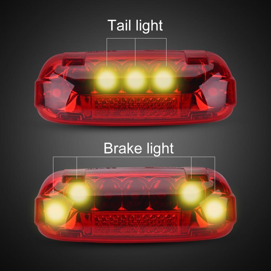 Bicycle Bike Cycling Brake Lights Red LED Rear Tail Back Warning Lamp Battery