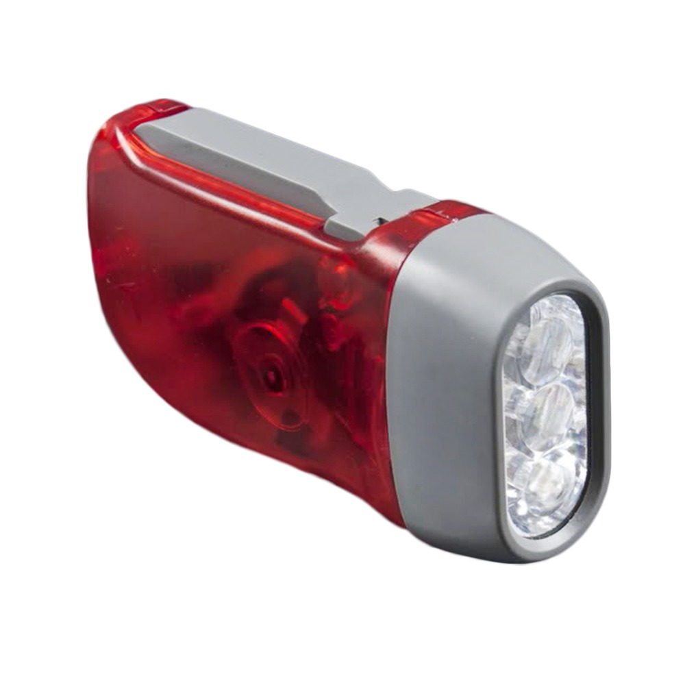 3 LED Hand Pressing Dynamo Crank Power Wind Up Flashlight Torch Light Hand Press Crank Camping Lamp Light