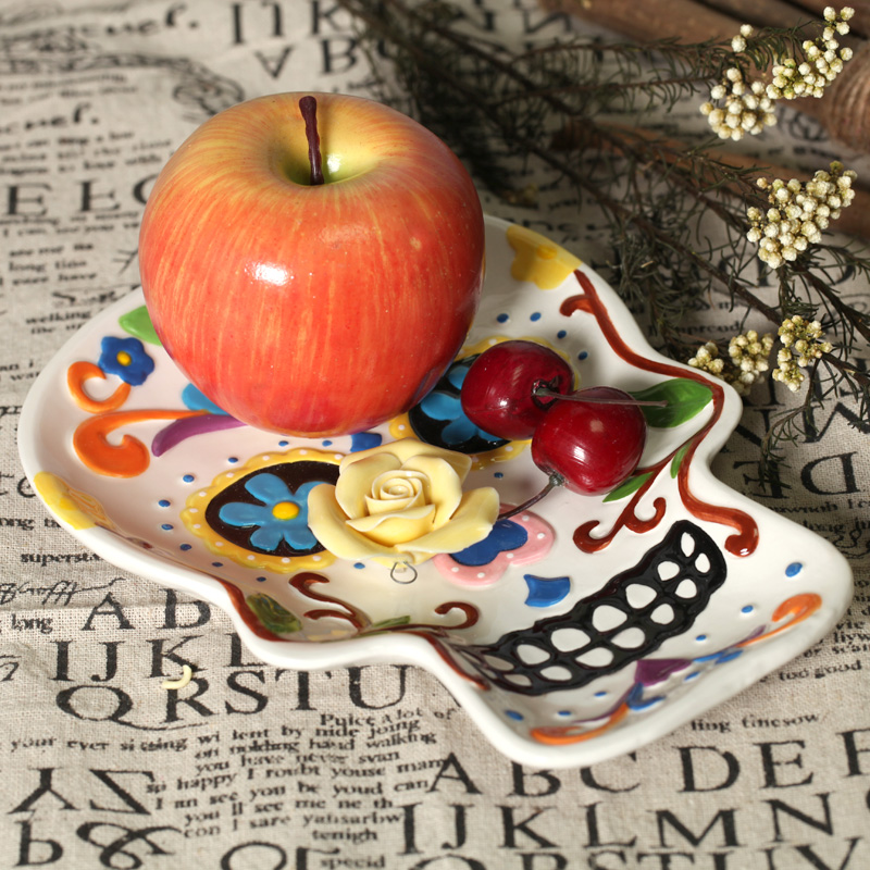 skull hand painting plate ceramic dish fruit plate salad plate wall decoraton home deco halloween deco - Halloween Plates Ceramic