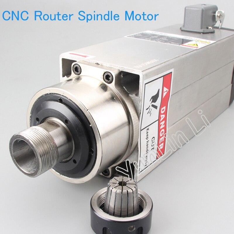 Двигатель быстроходного шпинделя фасонно фрезерного станка с ЧПУ с воздушным охлаждением 3500 Вт Шпиндельный Мотор dc 1 16 мм высокоскоростной