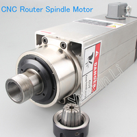 CNC Router Spindle Motor Air Cooled 3500W DC Spindle Motor 1 16MM High Speed Spindle Motor for CNC Machine ER25
