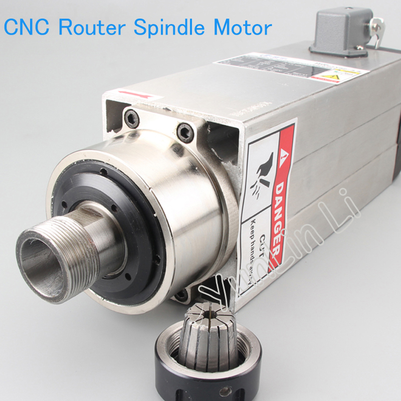 CNC Router Spindle Motor Air Cooled 3500W DC Spindle Motor 1-16MM High Speed Spindle Motor for CNC Machine ER25 huajiang brand new arrive 1 5kw spindle motor 220v air cooled motor 400hz hot selling cnc spindle motor machine tool spindle