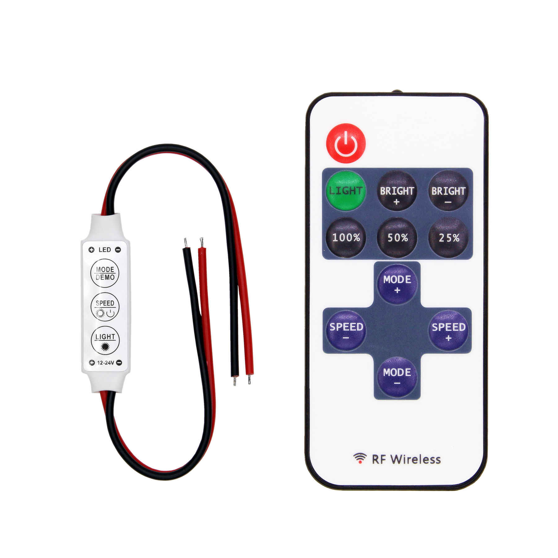 LED Strip Controller Mini Dimmer RF Remote DC 5V 12V 24V Controller For LED 5050 2835 Strip Single Color