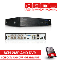 Новый металлический 1080P AHD DVR Поддержка AHD-H 1080P камера 1920x1080 Resulution AHD-N H DVR 8CH 1080P 4CH 5MP 4/8-канальная аналоговая камера высокой четкости, видеорегис...