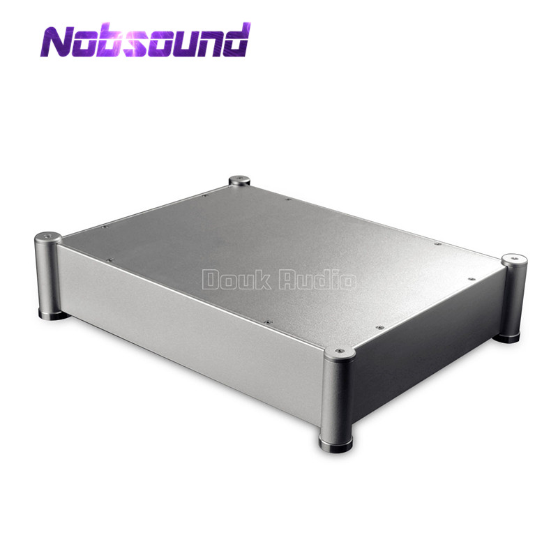 Nobsound Aluminum chassis DAC case amplifier enclosure DIY Cabinet HiFi Box 430*95*330 mm 145x68 220 mm w h l diy amplifier chassis diy box aluminum enclosure