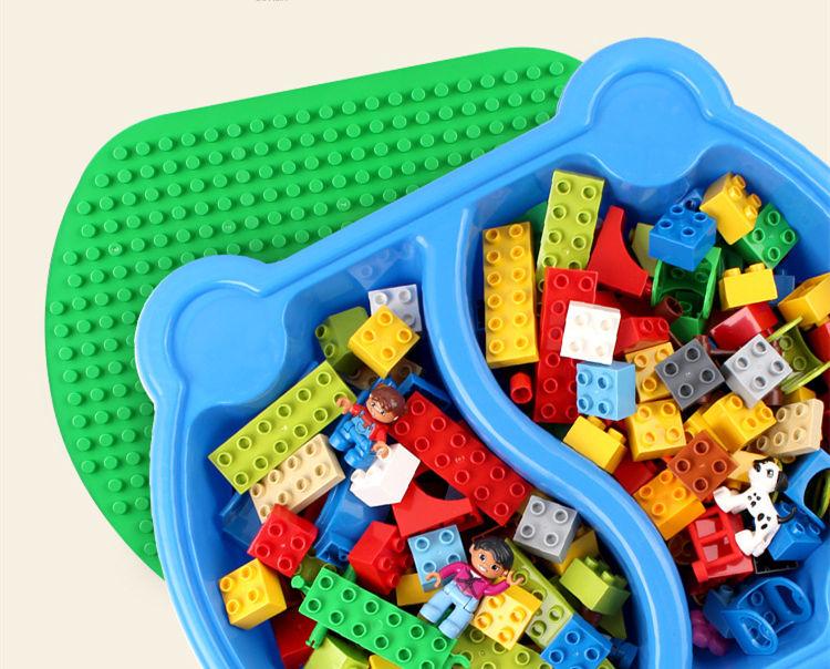 [Top] Multifunctionele Onderwijs Bouwstenen Tafel Bureau Speelgoed Pretpark Reuzenrad Blokken Diy Assemblage Model kids Gift - 3
