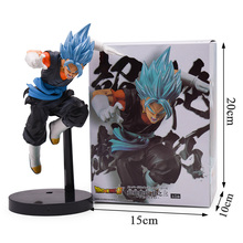 23cm Big Dragon Ball Z Blue Hair Vegeta Battle Ver. PVC Anime Figure DBZ Collection Model Doll Toys For Kids Christmas Gift 9 inch date a live nightmare tokisaki kurumi two gun ver boxed 23cm pvc anime action figure collection model doll toys gift