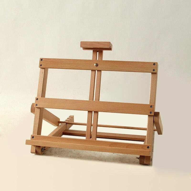 Chevalet de bureau petit chevalet de peinture de bureau adulte étudiant en bois peinture à l'huile croquis chevalets réglable pliable fournitures de peinture