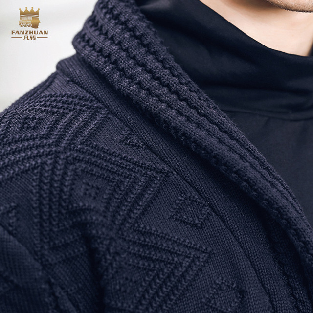New fashion spring men's male autumn winter short cardigan personalized jacquard sweater 825198