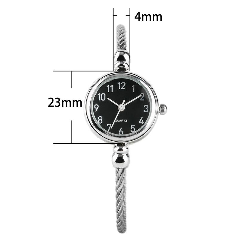 Unique Women Bracelet Watch Little Smooth Dial Top Luxury Silver Slim Strap Korean Retro Art Female Clock Quartz Watch Gift Hour 2018 2019 (42)