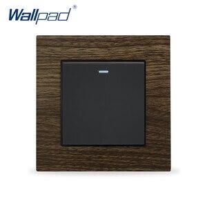 Переключатель сброса мощности Wallpad роскошный настенный выключатель света металлический деревянный дизайн кнопочные переключатели момент...